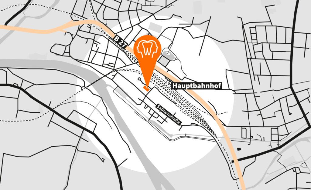 Anfahrt KieferStellwerk Bad Friedrichshall