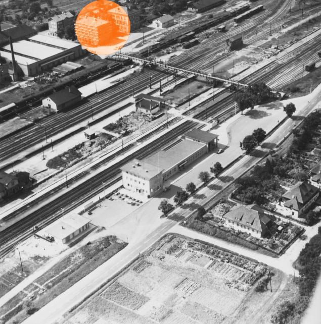 Historische Karte Stellwerk Bad Friedrichshall