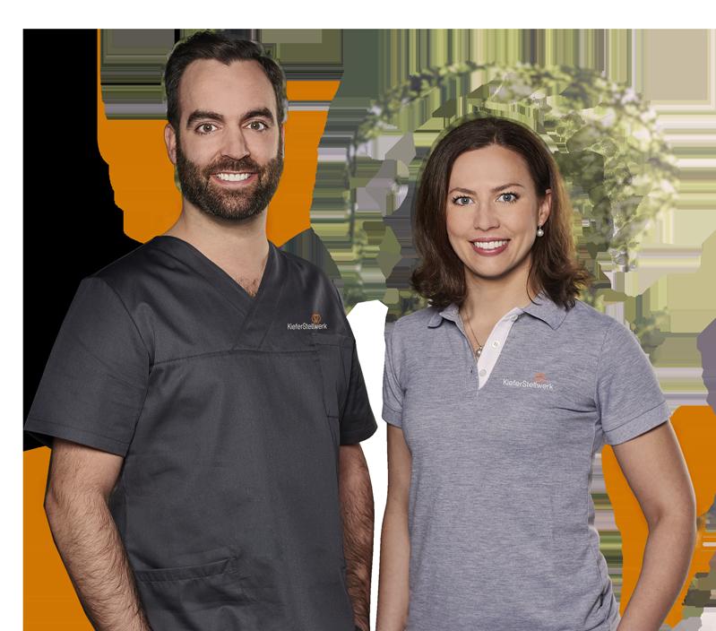 Dr. Lisa Tack und Dr. Dr. Tobias Torsiglieri – Behandler des KieferStellwerks Bad Friedrichshall